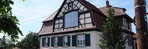 Réhabilitation et extension de la maison sur les remparts à Obernai
